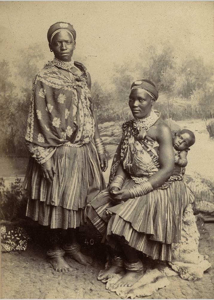 Женщины Басуто. Лесото. конец XIX века