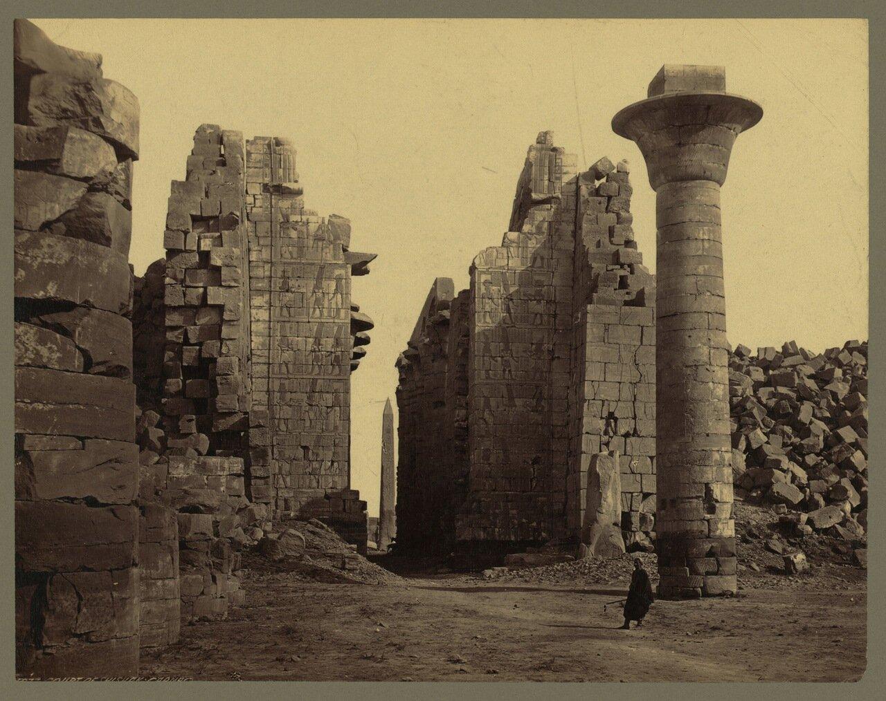 Фивы. Карнак.Первый двор храма Амона