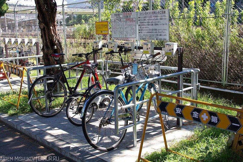 велопарковка, япония