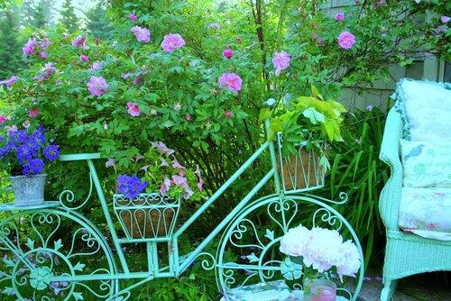 Винтажный декор сада своими руками