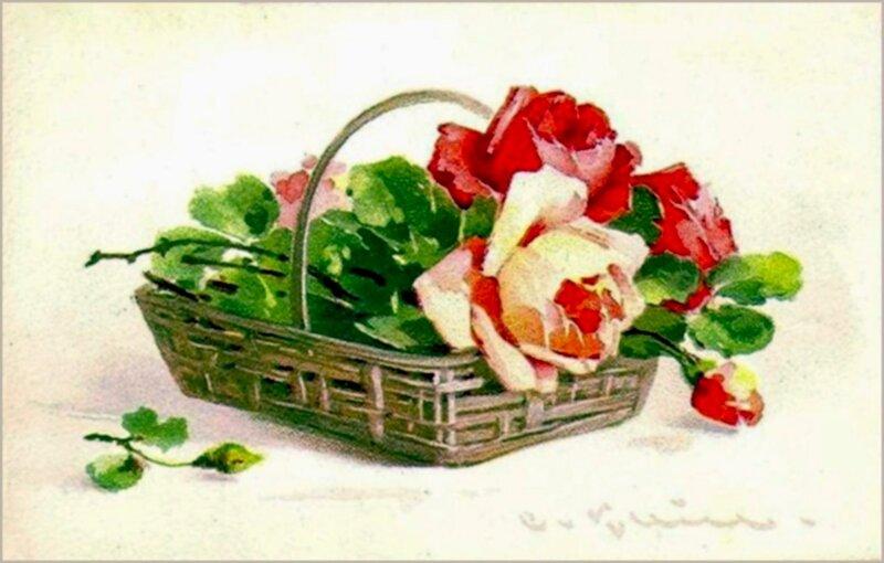 К. Кляйн. 154. Розы в корзине.