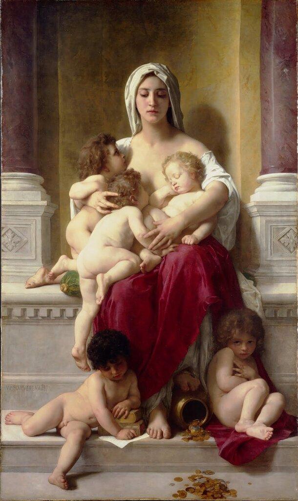William Bouguereau La Charité 1878