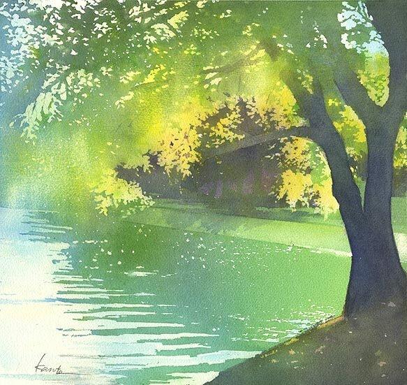 Расплескала весна воды вешние