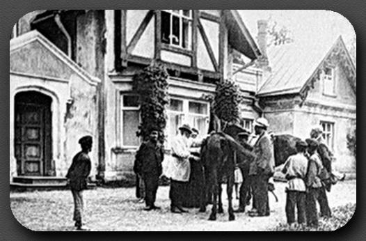 Лев Толстой в Крёкшино сентябрь 1909 г.