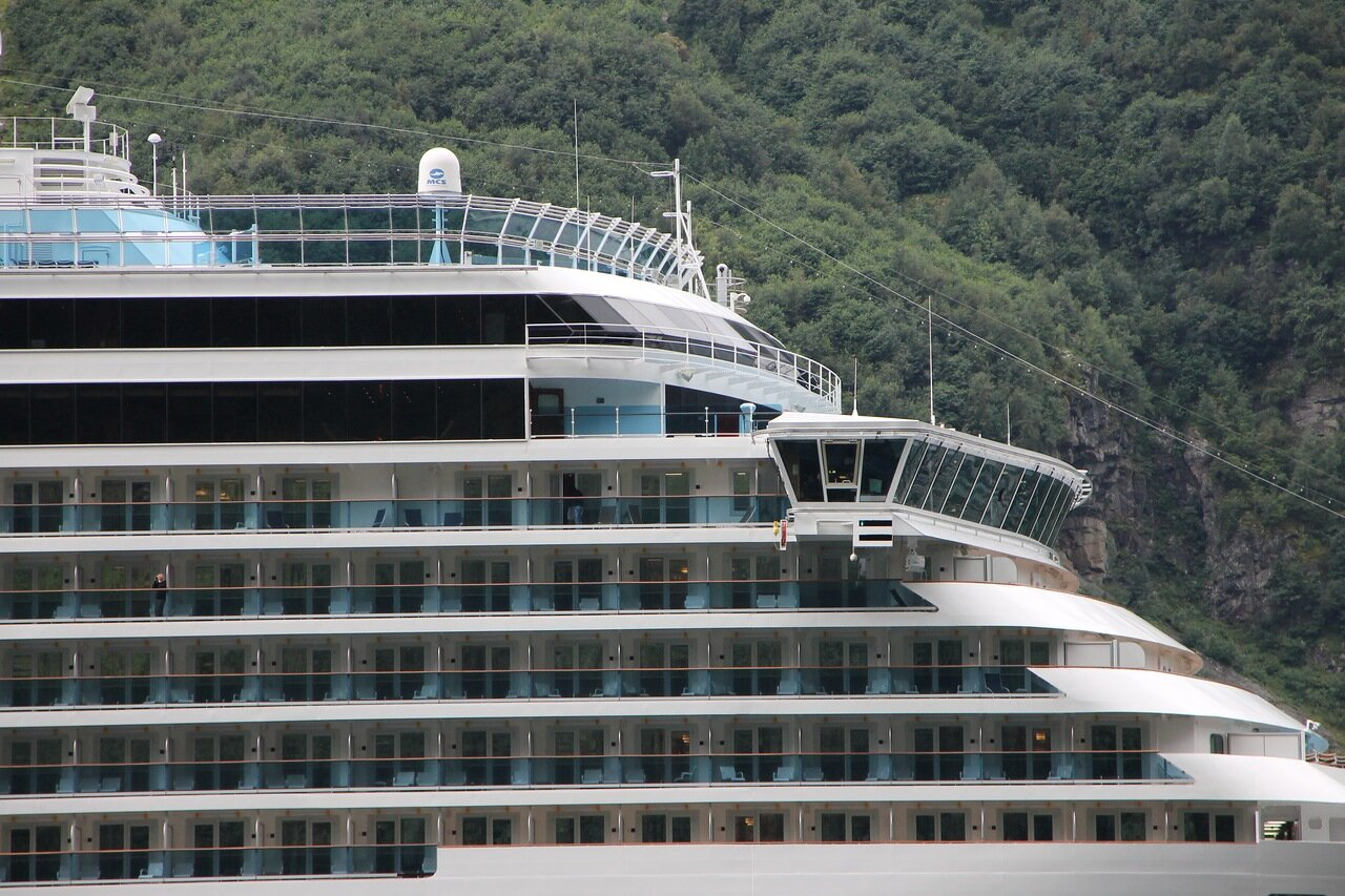Costa Luminosa Cruise ship in Geiranger