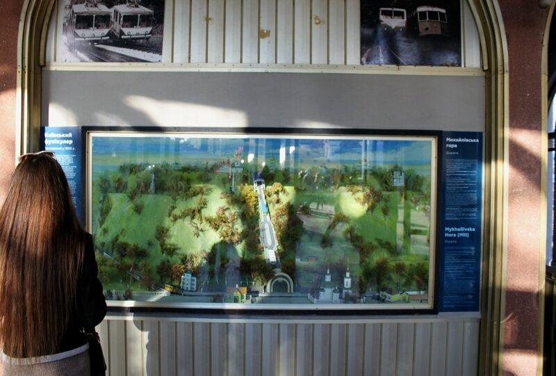 Макет на верхней станции фуникулера