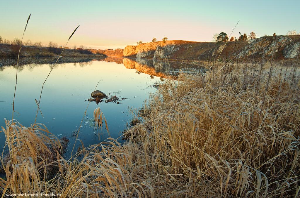 Вид на Слободской камень в поселке Чусовая. Съемка пейзажа на Никон Д5100 и Самъянг 14мм 2,8.