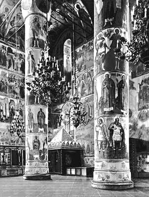 Интерьер Успенского собора.