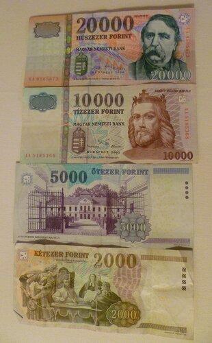 Венгерские форинты (Hungarian forint)