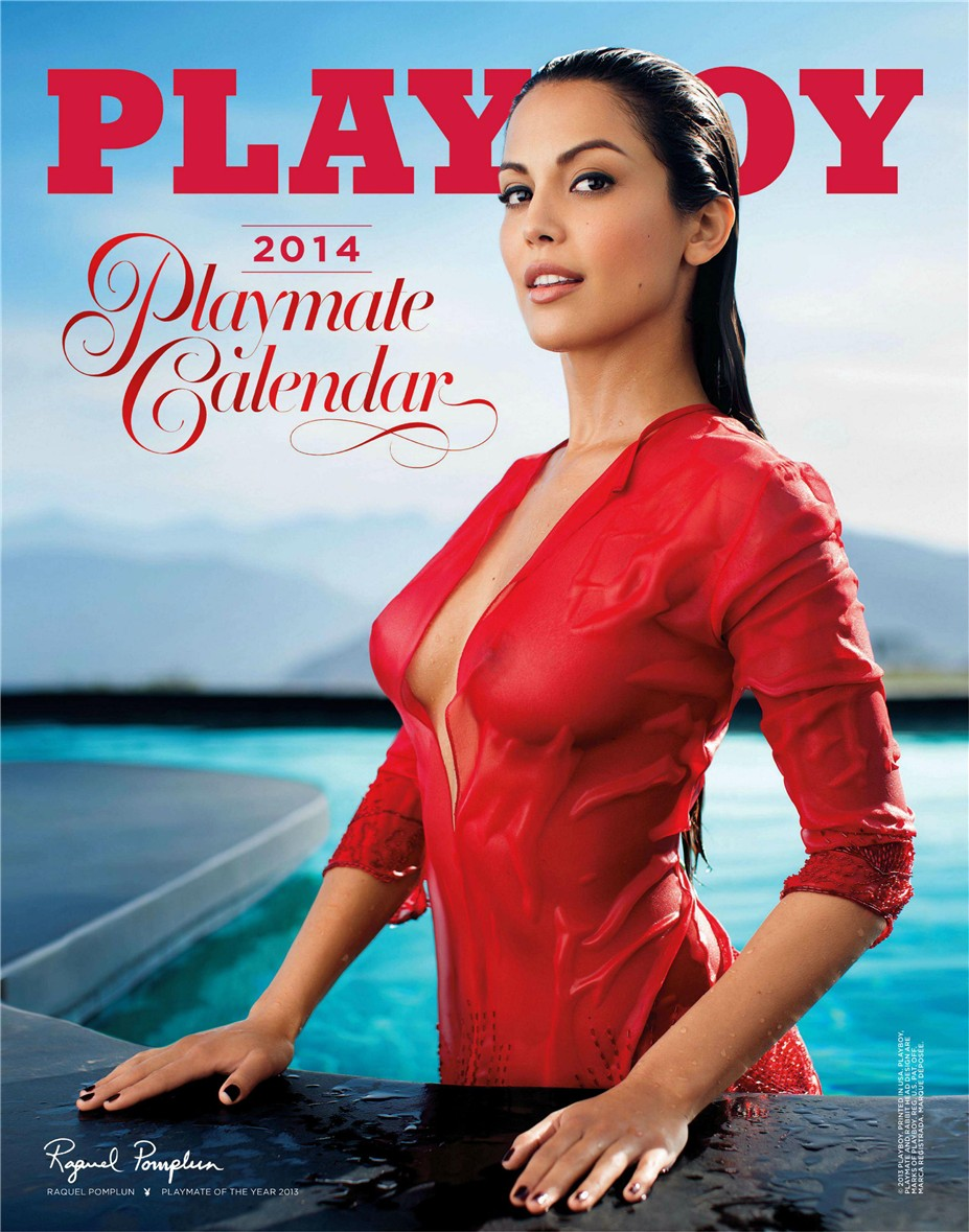 cover / Playboy USA playmate calendar 2014 / Raquel Pomplun - Playmate of the Year 2013