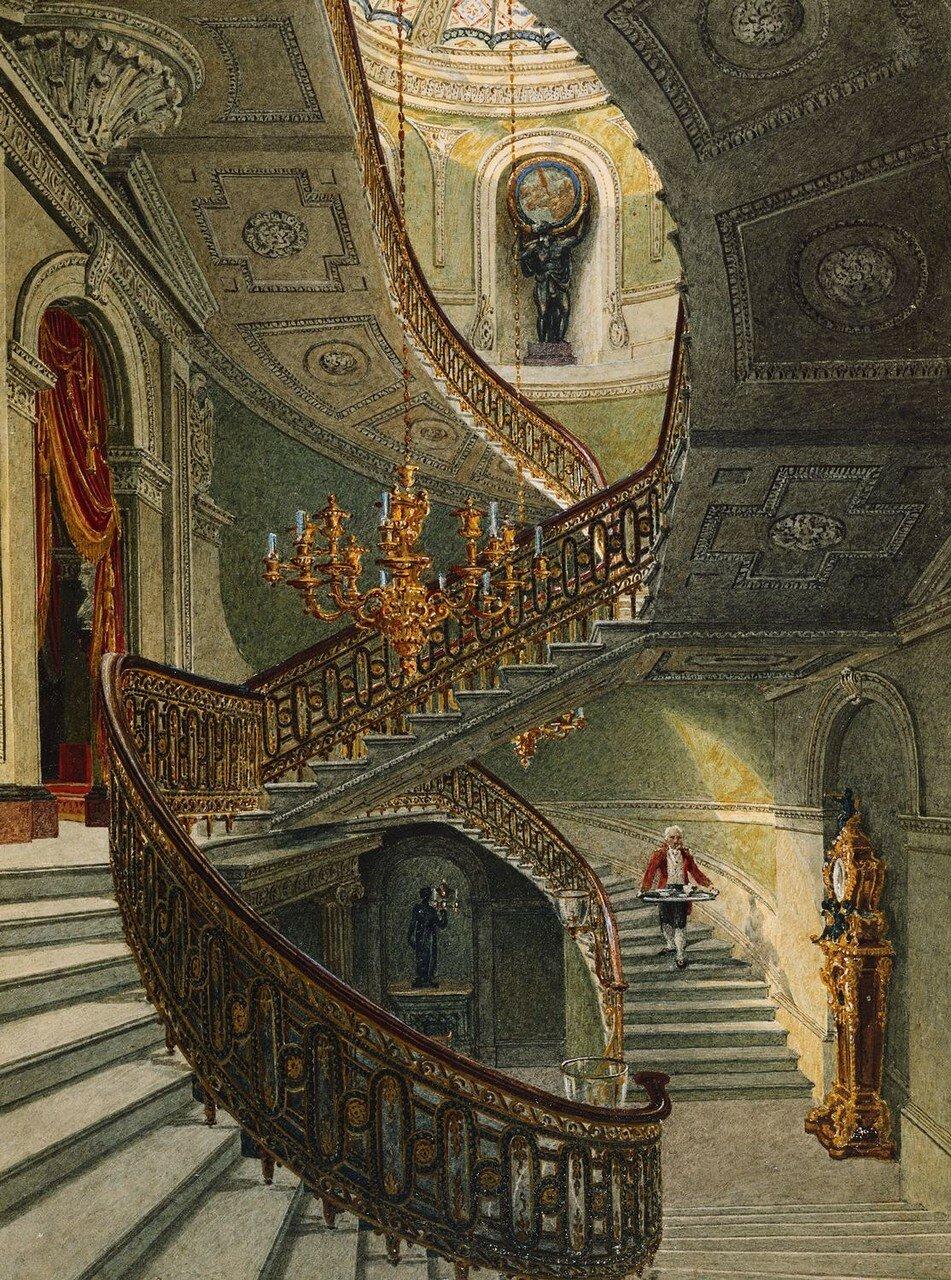 Парадная лестница, Carlton House.
