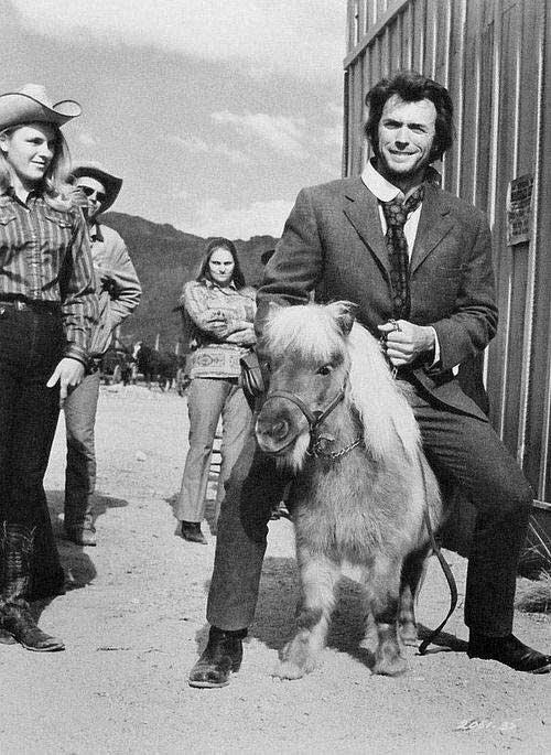1972. Клинт Иствуд на карликовом пони