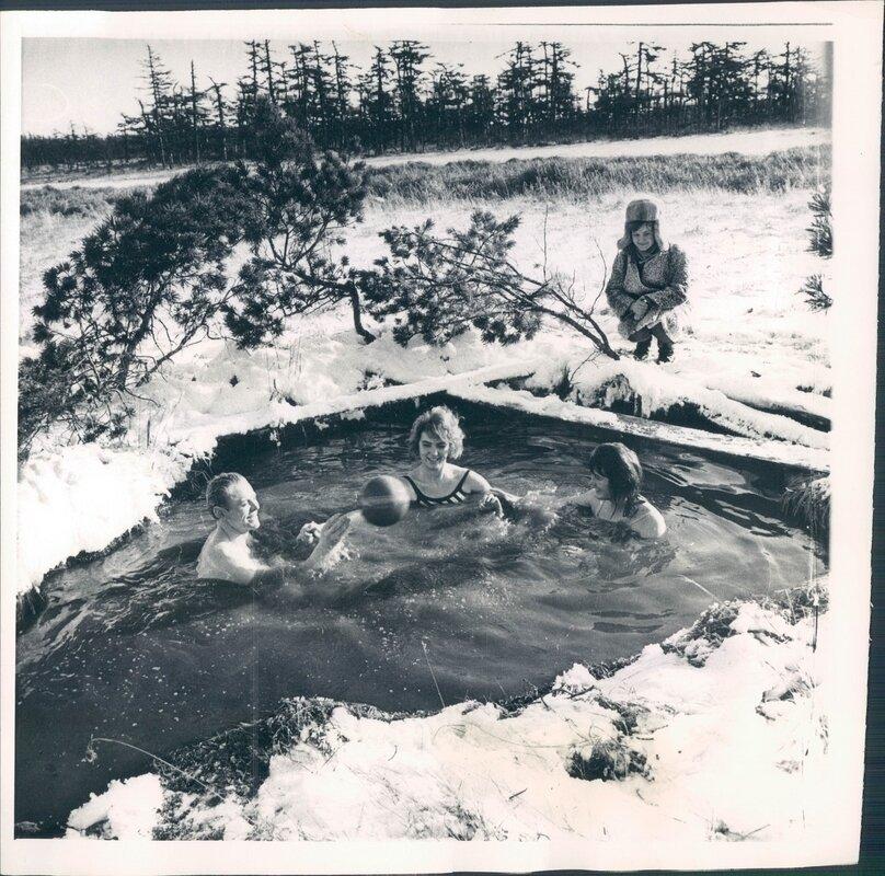 1968. Моржи в природном бассейне