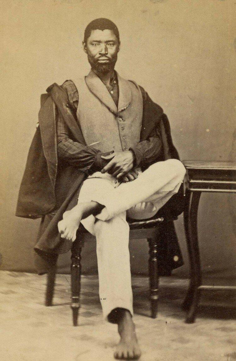 Мголомбане Сандиле (1820-1878) был вождем племени коса в период коса-бурских войн. Южная Африка, конец XIX века