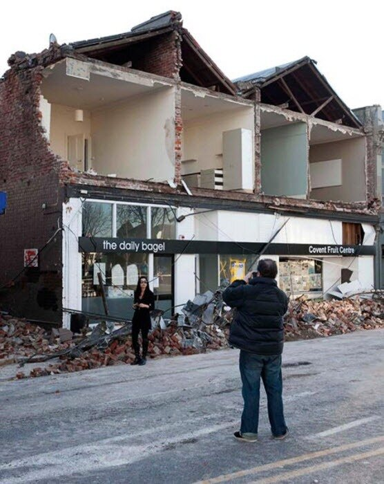 Н зеландия землетрясение фото