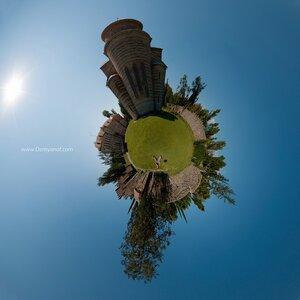 Великий Питиунит панорама, Абхазия, город, микропланета, coordinates