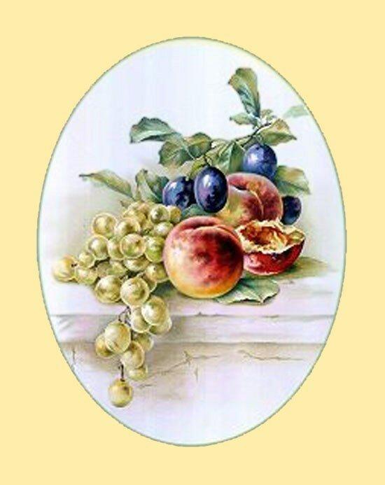 164. К. Кляйн. Виноград, сливы и персики.