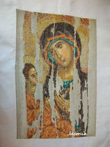 Вышивка иконы Божьей Матери
