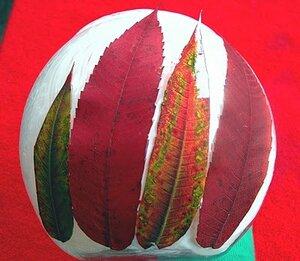 Подсвечник с листьями