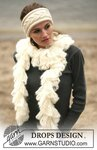Вязаные шарфы и полонтины спицами и крючком.