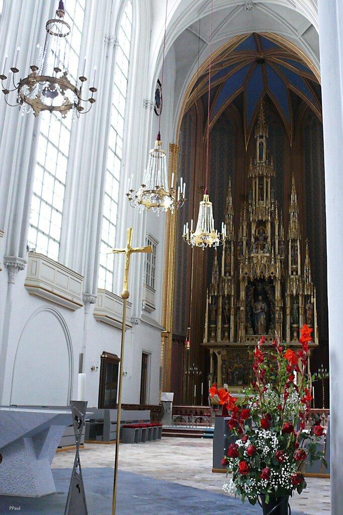 Готическая церковь была освещена в 1349 году и с 17-го столетия она превратилась в семейную церковь Габсбургов.