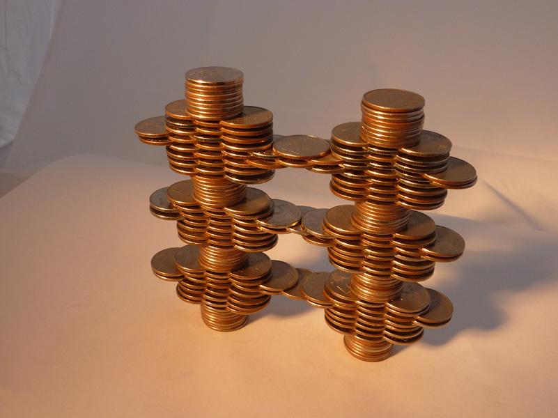 Скульптуры из монет своими руками 22