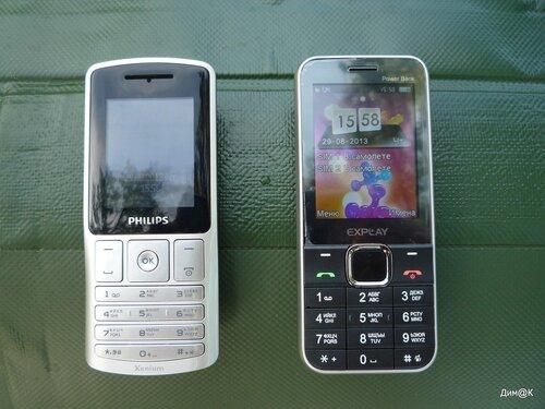 Philips Xenium X130 и Explay Power Bank
