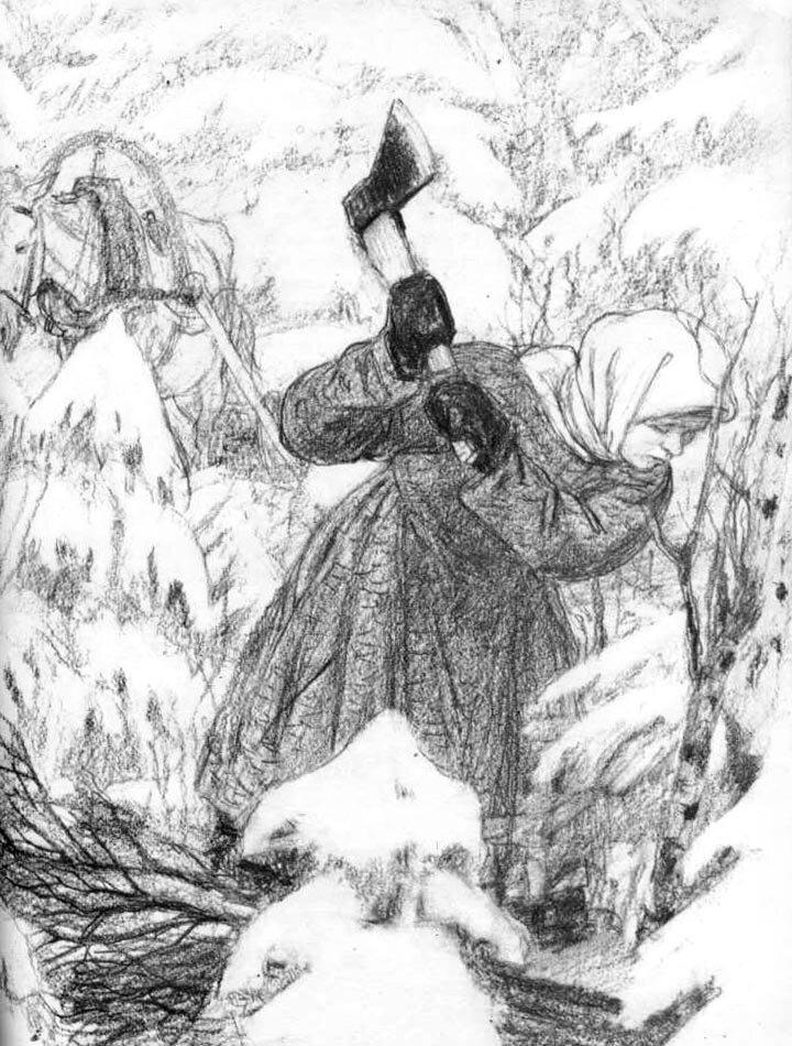 Мороз, Красный нос. Некрасов Н.А, (Есть женщины в русских селеньях)