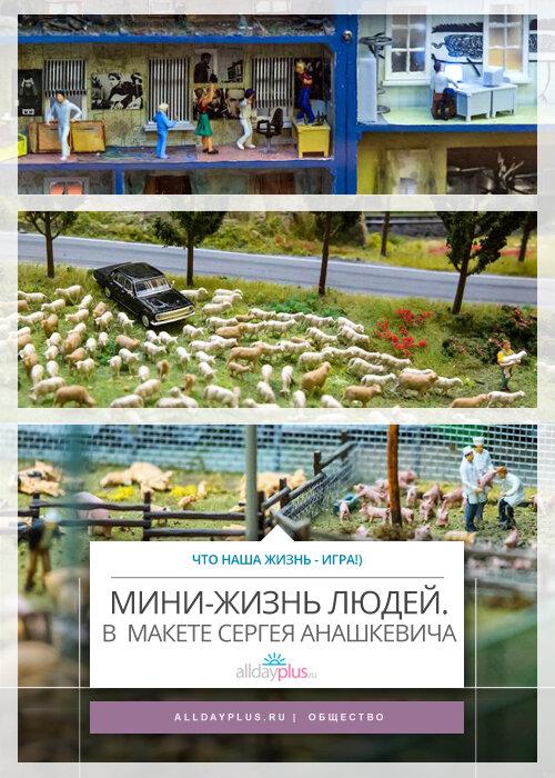 Жизнь обычных россиян. От и до. В макетах Сергея Анашкевича, которые интересно рассматривать. 33 сюжета