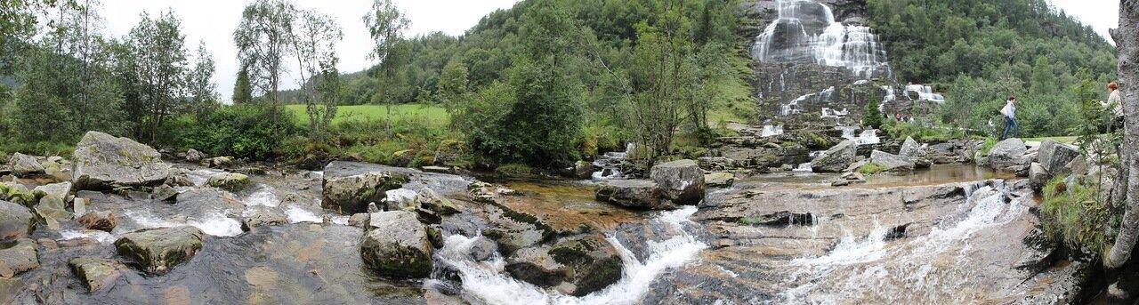 водопад Твиндефоссен, panorama