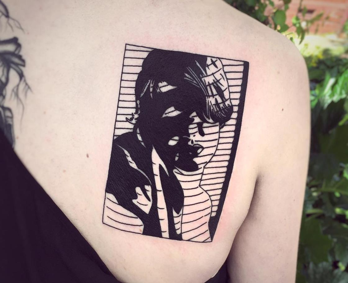 Cinematic Ink – The tattoos of Charley Gerardin are inspired by cult movies