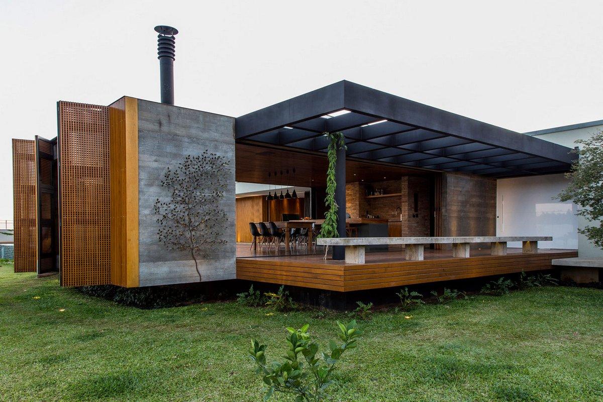 Одноэтажный частный дом с открытой планировкой