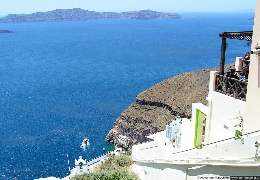 Кальдера Санторини и остров Фирасия