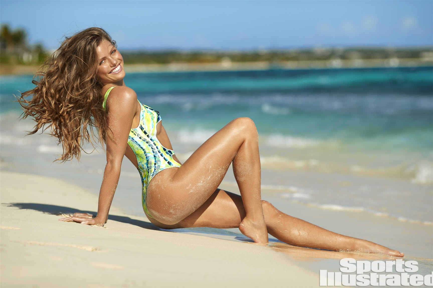 McKenna Berkley / МакКенна Беркли в боди-арт-купальнике - Sports Illustrated Swimsuit 2017 issue / in Anguilla by Josephine Clough