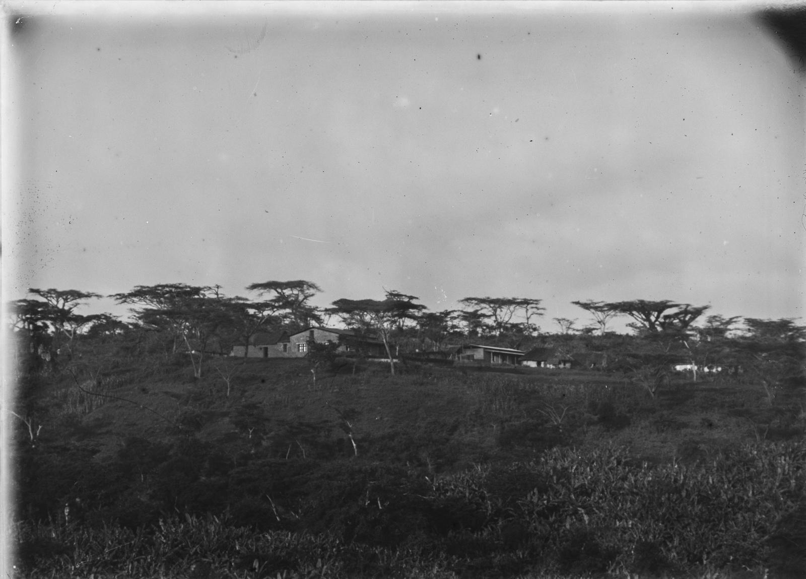 159. Станция немецкого общества Восточной Африки (ДОАГ) в Марангу. На заднем плане здания станции и зонтичные акации