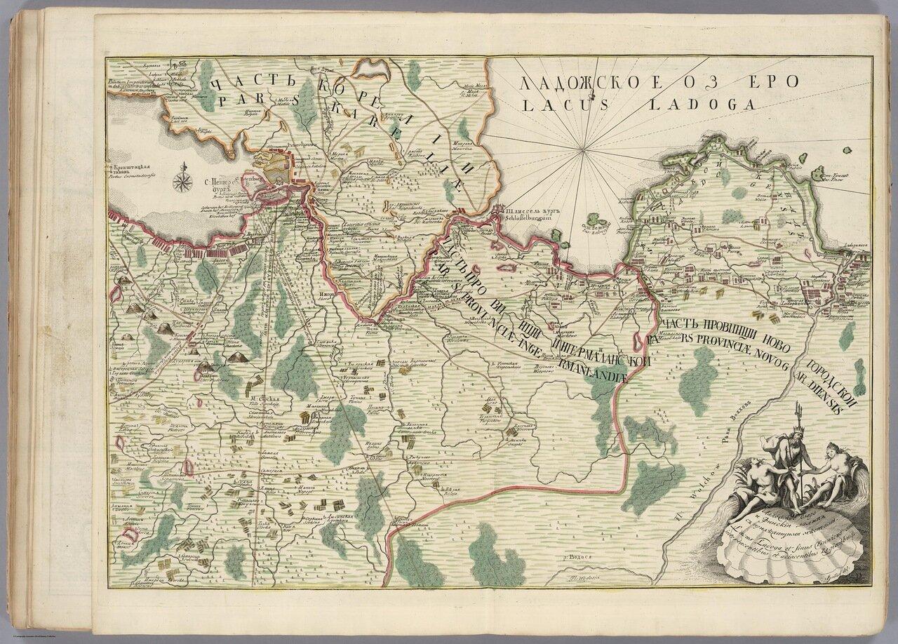 Ладожское озеро и Финский залив.1735
