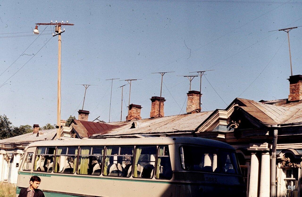 buses, chimney's aerials - Ektachrome