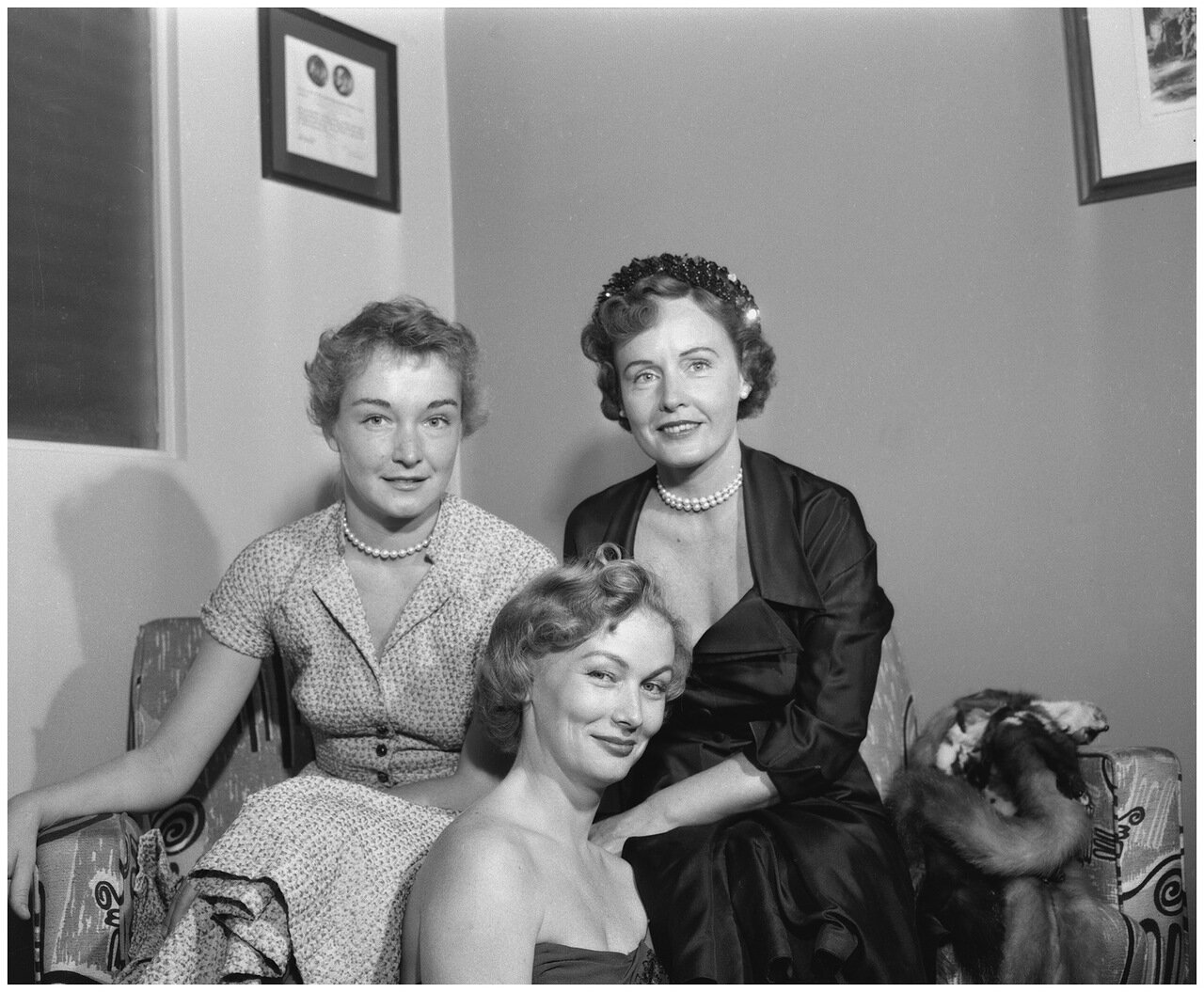 1952. 8 сентября. Нина Фох, Вероника Лейк, Мэдж Эванс