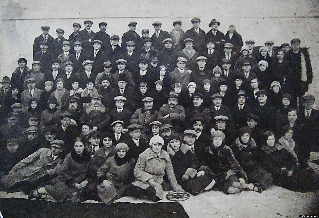 1930-е. Руководство и рабочие Альбертинской бум.ф-ки