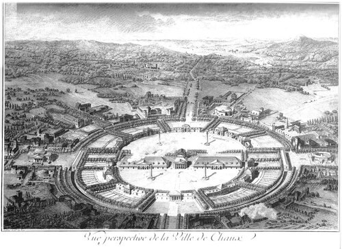 Идеальный город Шо, архитектор Клод Леду, план