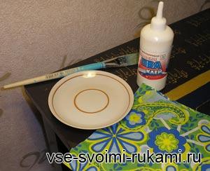 декупаж тарелки мастер-класс