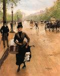 "La Modiste Sur Les Champs ElyseesTranslated title: The Milliner on the Champs Elys饳Oil on canvas34.9 x 45.1 cm(13.74"" x 17.76"")Private collection"