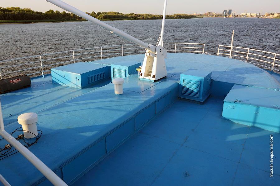 Носовая часть шлюпочной палубы дизель-электрохода «Композитор Глазунов»