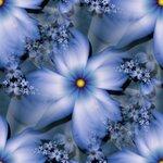 синии веты фрактал