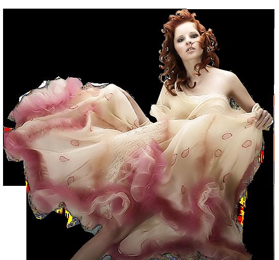 девушка в пышном платье цвета бежь