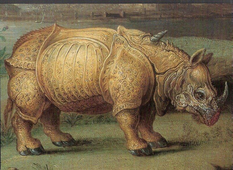 vintage illustration,Afrika (detail) 1664 Jan Van Kessel