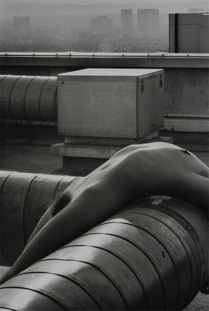 Lucien Clergue.Nude on Pipe