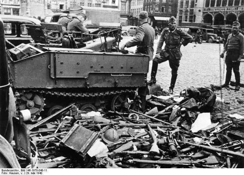 Захваченное немцами оружие бельгийской армии.
