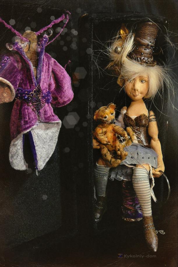 текстильная шарнирная кукла Мирра и Тигрюля. Circus lover.текстильная шарнирная кукла.Портретная кукла по фото. Кукла с портретным сходством. Объёмное портретное лицо.