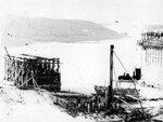 20. 12марта 1962 года. Бойка свай под ледорез на временной опоре «А»..jpg